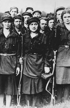 Women of the Russian Revolution, 1917.  My great grandparents were there ~~ my grandfathers parents on my mothers side.