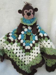 Monkey Huggy Blanket Crochet Pattern