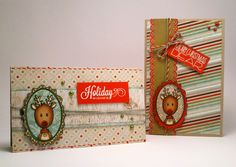My paper journey: A pair of Christmas cards
