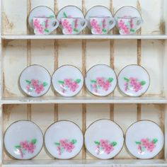 Pink Floral Tea Set, 16pcs - Star Buys - Star Buys - Offers of the Month! - Dolls House Emporium