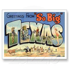 Texas TX US USA Greeting From Vintage Postcard from Zazzle.com