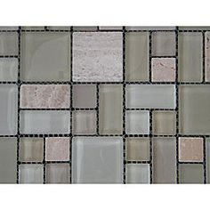 @Overstock - Achieve a sophisticated update in your home using the Sabbia Multi glass and tumbled stone wall tiles. Cream, soft beige and grey shades highlight these tiles, perfect for kitchen, bath or backsplash.http://www.overstock.com/Home-Garden/Sabbia-Multi-12-inch-Wall-Tile-Sheets-Pack-of-11/4846590/product.html?CID=214117 $202.99