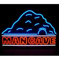 Man Cave Mountain Peak Neon Sign | Decor Ideas for Men | RetroPlanet.com