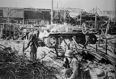 "The Battle of STALINGRAD. Soldiers Of The Wehrmacht. Fighting on the territory of the plant ""Barricades"". October 1942. Stalingrad metro station"