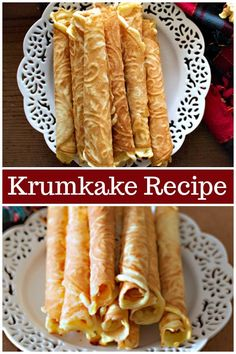 Krumkake is a delicate Norwegian cookie that is loved across generations. It's decadent, delicious and worth every minute spent making it! Pizzelle Cookies, Pizzelle Recipe, Cookies Et Biscuits, Lemon Recipes, Baking Recipes, Cookie Recipes, Dessert Recipes, Veg Recipes, Crack Crackers