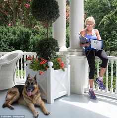 Casual debut: JIll Biden joined Instagram on Thursday as casually as possible: while wearing gym clothes and hanging out with her German shepherd