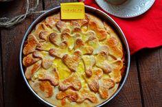 Творожный пирог с творожно-абрикосовой начинкой