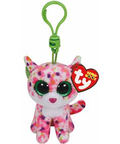 Sophie Pink Cat Beanie Boo Key Clip - Ty