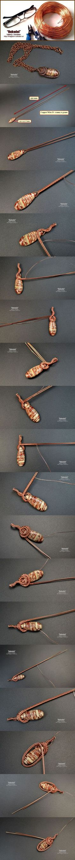 DIY Bijoux Кулон wire wrap.