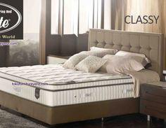 Spring Bed Elite CLASSY Ciptakanlah galeri kenyamanan berkelas dalam malam-malam istirahat Anda. Nikmatilah ketenangan tidur, berkat teknologi independent pocketed spring with latex, yang meminimasi guncangan. Anda akan tetap nyaman dan tenang meskipun partner tidur Anda bergerak Compability Set Head Board : Clover – 120 cm Divan : Paris – 32 cm  - See more at: http://www.tokofurnitureyenz.com/product/spring-bed-elite-classy/