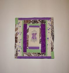 Purple Corset Pillow Cover  Colorful Hand by KarenHeenan on Etsy, $40.00
