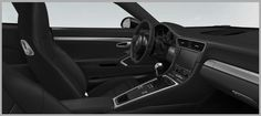 Porsche 911 Carrera Black Leather Interior