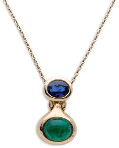 Bvlgari Yellow Gold Sapphire and Emerald Pendant Necklace. Emerald Jewelry. I'm an affiliate marketer. When you click on a link or buy from the retailer, I earn a commission.