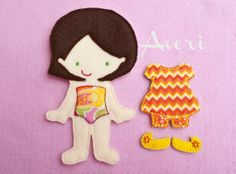 Felt Doll Non Paper Doll Doll with outfit Felt by ChameleonGirls