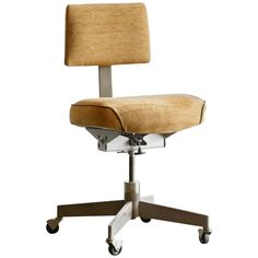 1960s Vintage Task Chair, Refinished | From a unique collection of antique and modern office chairs and desk chairs at https://www.1stdibs.com/furniture/seating/office-chairs-desk-chairs/