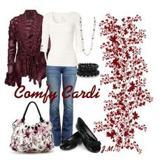 Comfy Cardi, created by jenniemitchell.polyvore.com