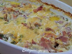 Loaded Baked Potato & Chicken Casserole Let me just start out by saying this is most definitely one of my most favorite dishes…ever! Oh my goodness I loved it. Before introducing this recipe , I've done at Baked Potato Chicken Casserole, Loaded Baked Potatoes, Loaded Potato, Chicken Cassarole, Chicken Bacon, Potato Caserole, Chicken Potatoes, Great Recipes, Dinner Recipes