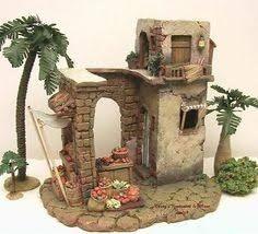 Imagen relacionada Christmas Nativity, Christmas Crafts, Christmas Decorations, Miniature Rooms, Miniature Houses, Christmas Grotto Ideas, Stage Set Design, Modelos 3d, Ceramic Houses