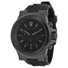 ac57f9b6e60f Michael Kors Black Silicone Strap Mens Watch MK8152  mens  watch  strap   silicone