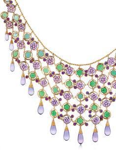 Art Nouveau grapevine necklace (detail) by Louis Comfort Tiffany, 1906.
