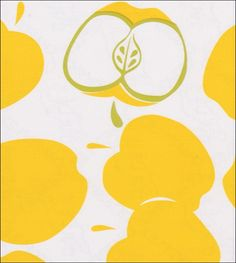 Day 326 | Mod Apple Yellow is a modern version of the classic apple print