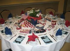 independence day party ideas in white blue and red colors