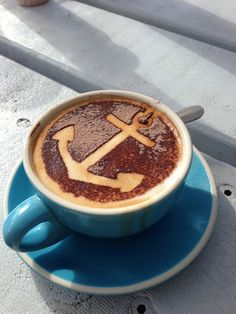 Do you take your coffee with an anchor in it?