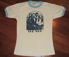 57512d47 Details about RaRe *1970s THE WHO* vtg rock concert tour t-shirt (S) Pete  Townshend Keith Moon