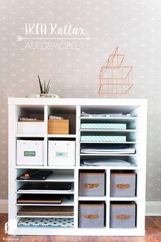 More order for my desk with Kallax insert relleomein.de Ikea Kallax Regal Hack with New Swedish Design Real Inserts