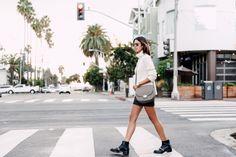 VivaLuxury - Fashion Blog by Annabelle Fleur: SUNSET ON SANTA MONICA - JOIE Kajetan turtleneck sweater | THE KOOPLES leather skirt | CELINE Medium Trotter bag | GIVENCHY boots thanks to BRUNA ROSSO | MICHAEL KORS Bradshaw watch | VITA FEDE ring | Adornmonde rings November 4, 2015
