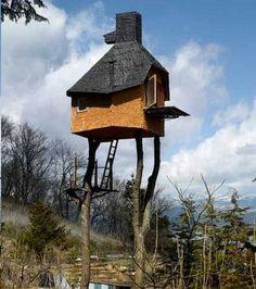 L'originalité de cette maison provient du fait qu'elle a été construite sur pilotis