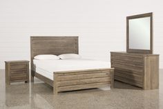 Sawyer Grey Queen 4 Piece Bedroom Set - Signature