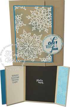 Stampin Up Festive Flurry photo card for the Holidays. Details on blog