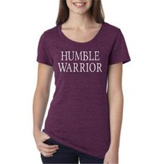 "Women's ""Humble Warrior"" Amethyst Triblend Tee"