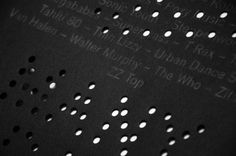 2 Many DJs print with cut detail designed b Studio Plastac Braille, Material World, Print Finishes, Black Paper, Poster On, Design Inspiration, Graphic Design, Studio, Behance