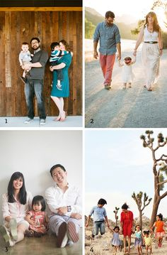 How to dress for family photos #holidaycard #colorpalette