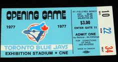 Toronto Blue Jays-my grandfather has a ticket just like this, from the first ever Jays game!!