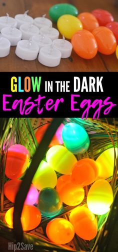 Glow in the Dark Easter Eggs Using Flameless Tea Light Candles Use inexpensive tea lights inside plastic eggs for a fun Glow in the Dark Easter Egg Hunt kids activity this year! Plastic Easter Eggs, Easter Crafts For Kids, Easter Ideas, Easter Decor, Easter Centerpiece, Bunny Crafts, Centerpieces, Easter Hunt, Easter Party