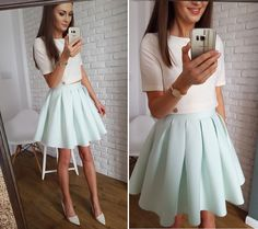 Elegant pleated mini skirt Elegancki komplet na wesele, komunię, chrzest itp  www.illuminate.pl
