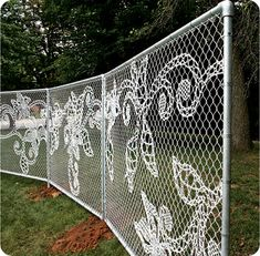 Demakersvan Lace Fence. This would be remarkable for an old Victorian or turn of the century home...