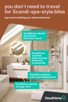 The relaxing bathroom – attic Relaxing Bathroom, Bathroom Inspo, Mud Kitchen, Shower Screen, Teen Room Decor, Moving House, Ideal Home, Home Decor Styles, Bathroom Accessories