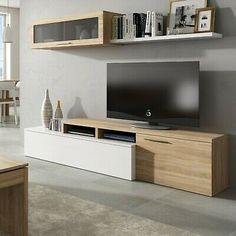 Details of modern TV stand glossy lacquered living room living room dining table - TV Unit Dining Table In Living Room, Living Room Tv, Living Room Decor Colors, Living Room Designs, Living Room Entertainment Units, Modern Tv Wall Units, Tv Unit Furniture, Rack Tv, Tv Stand Designs