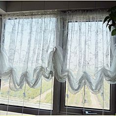 Diy Balloon Curtain Buy One Inexpensive Sheer Panel Sew
