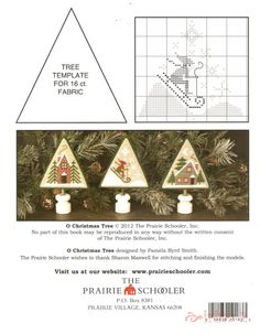 O Christmas Tree • 4/4 Chart, Template and Completed Projects