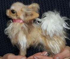 Needle felted chihuahua by DogpotandCat on Etsy