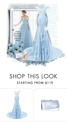 """Blue Gown"" by daiscat ❤ liked on Polyvore featuring Casadei"
