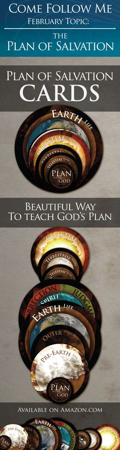 Come Follow Me - February Topic - The Plan of Salvation - Increase understanding & engagement during your lessons with this awesome 8 card set. l Sunday School l Missionaries l Preach My Gospel l FHE l Purchase at www. amazon.com or www.priesthoodkeys.com