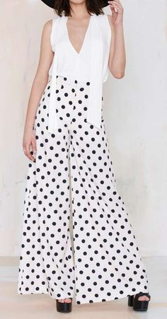 Black/White Polka Dots