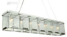 Rain Transitional Rectangular Kitchen Island / Billiard Light - XLV-NR70N061