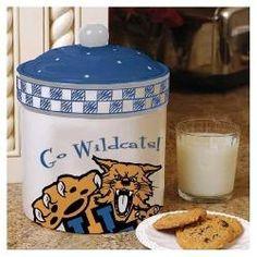 Kentucky Wildcats UK NCAA Gameday Ceramic Snack Cookie Jar